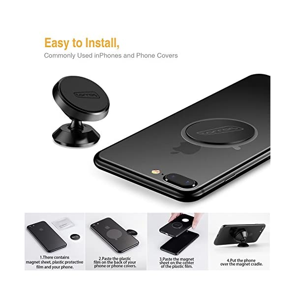 TORRAS Magnetic Car Mount Holder Universal 360 Rotation Car Phone Holder Dashboard Mount Cell Phone Car Cradle For Phones GPS Or Light Tablets IPhone X 8 7 6 5 Galaxy S7 S6