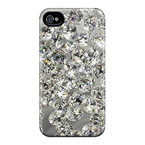 FPRfHjS4189mDHil Tpu Phone Case With Fashionable Look For Iphone 4/4s - Diamonds