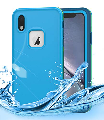 iPhone XR Waterproof Case,Dailylux iPhone XR Shockproof Full-Body Rugged Cover IP68 Certified Snowproof Shockproof Dustproof Built-in Screen Protector for iPhone XR 6.1 inch,Navy Blue