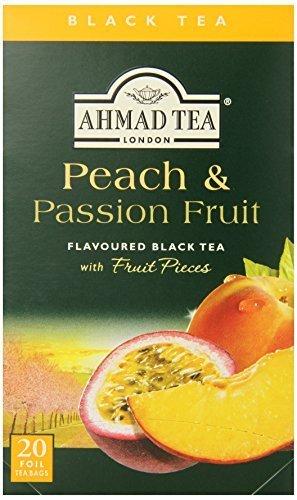 Ahmad Tea Peach & Passion Fruit Black Tea, 20-Count Boxes (Pack of 6) by Ahmad (Ahmad Peach)
