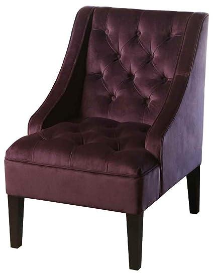 Abbyson® Amelia Tufted Armchair, Purple