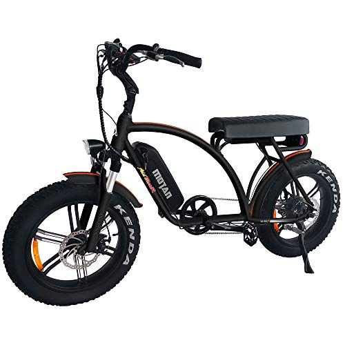 Addmotor MOTAN M-60 L7 R7 48V 750 Watt Electric Beach Cruiser Bicycle For Adults 11.6Ah Lithium Battery 20 Inch Fat Tire Electric Bikes Mini Motobike With Throttle Pedal Assist 2019 Fit For Men Women