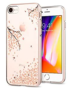 Spigen Liquid Crystal [2nd Generation] iPhone 8 Case / iPhone 7 Case with Slim Protection and Premium Clarity for Apple iPhone 8 (2017) / iPhone 7 (2016) - Blossom