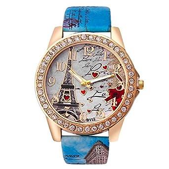 Daringjourney Reloj para Mujer, Esfera de Graffiti de la Torre de ...