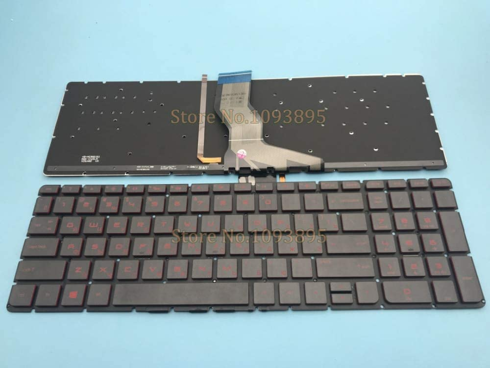 Lysee Replacement Keyboards - Russian Keyboard For HP Pavilion 17-g 17g 17-G000 17-G015DX 17-G100 17-G101DX 17-G119DX 17-G120NR Russian Keyboard Red Backlit