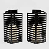 Flameless Black Candle Lanterns with Warm White