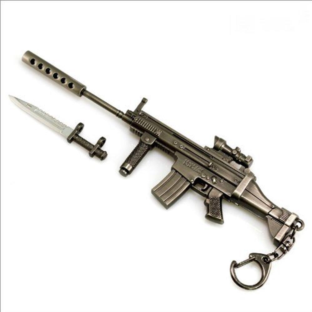 Battlefield 3 Scar-S Rifles Metal Modelo bayoneta Anillo ...