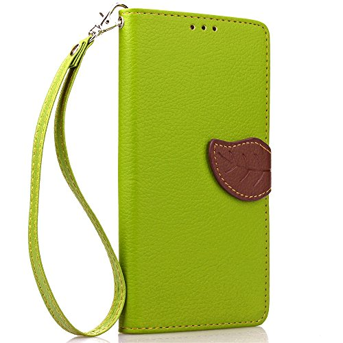 SRY-Funda móvil Samsung Funda Samsung A9, funda de cuero de la PU Funda de silicona suave Funda de la cartera Patrón de la hoja Funda de soporte magnético Flip para Samsung A9 ( Color : Rose , Size :  Green