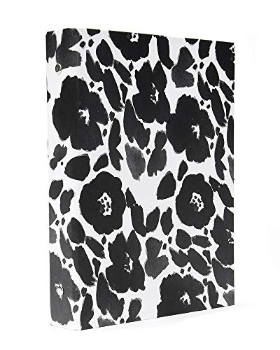Gartner Studios Black & White Flower 3 Ring Binder (3 Binder Flower Ring)