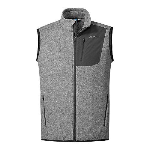 Eddie Bauer Men's Cloud Layer Pro Vest, HTR Gray Regular (Eddie Bauer Down Vest)