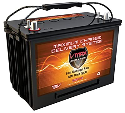 VMAX XTR27-110 AGM Marine Battery 12V 110Ah Group 27 Sealed Deep Cycle High Performance
