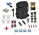 72 Hour Emergency Survival Kit and Bug Out Bag With Replenishable Water Filter For 4 People