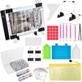 (59PCS) Diamond Painting A4 LED Light Pad Kit,DIY Dimmable Light Brightness Board,LED Artcraft Tracing Light Table,Reusable A4 Painting Pads Great for Full Drill & Partial Drill 5D Diamond Painting.: more info