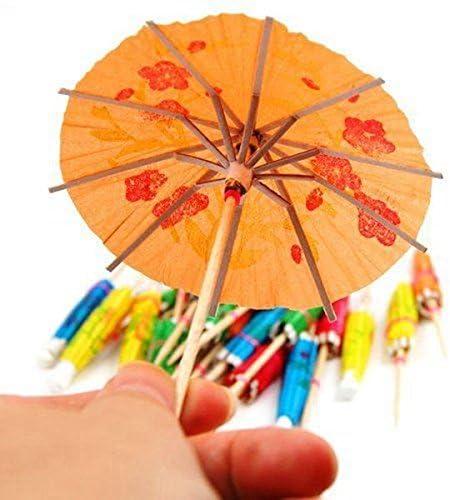 TOOGOO 50 x Papier Cocktail Sonnenschirme Regenschirme Party Hochzeitszubehoer