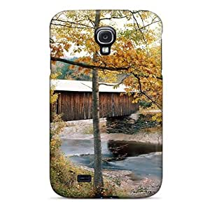 Tpu NewArrivalcase Shockproof Scratcheproof Covered Bridge In Waterville Vermont Hard Case Cover For Galaxy S4