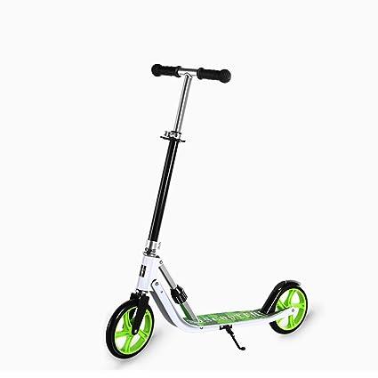 QFFL huabanche Scooter Scooter para Dos Ruedas para Principiantes Scooter Plegable para niños 3-12