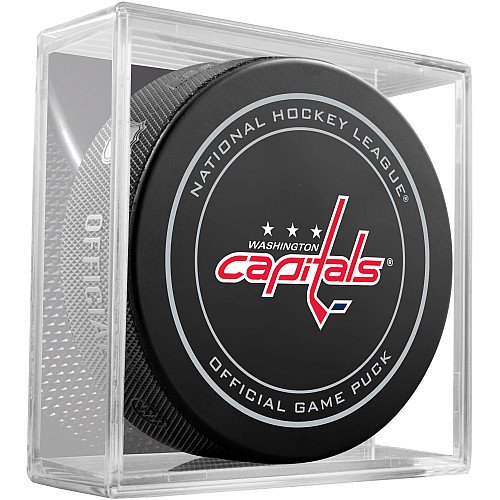 Nhl Cube - Washington Capitals Sherwood Official NHL Game Puck in Cube