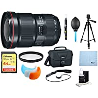 Canon EF 16-35mm f/2.8L III USM Ultra Wide Angle Zoom Lens & Multi Accessories Bundle