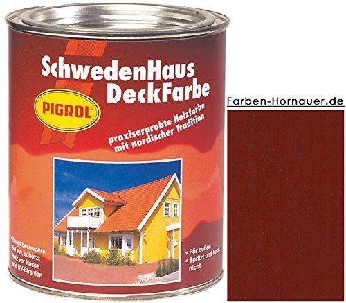 Schwedenhaus-Deckfarbe, Farbton: schwedenrot, 2,5 ltr. Gebinde