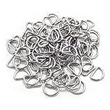 BronaGrand Pack of 100 Metal Nickel Plated D Ring (1/2inch)