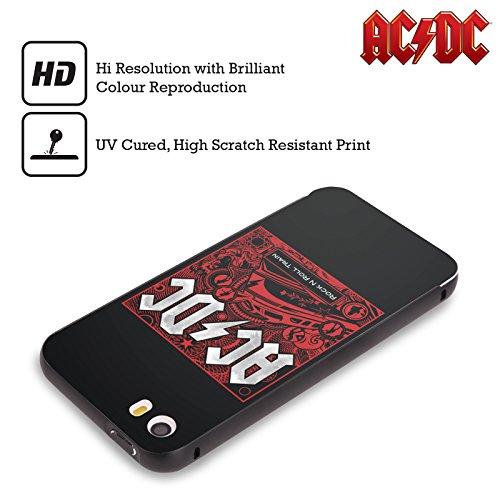Officiel AC/DC ACDC Balancez Train De Rock Et Roll De N Art D'album Noir Étui Coque Aluminium Bumper Slider pour Apple iPhone 6 Plus / 6s Plus