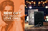 Beard and Mustache Scissors w/Comb and Synthetic