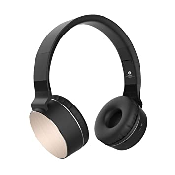 KCJMM Auriculares Bluetooth, Auriculares estéreo Plegables estéreo inalámbricos Plegables en la Cabeza con Tarjeta de