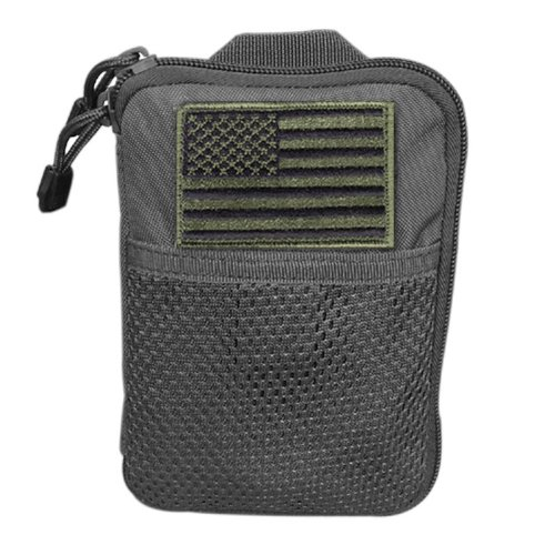 Condor Pocket Pouch/US Patch (Black, 7.25 x 5-Inch) (Molle Gear Pouches compare prices)