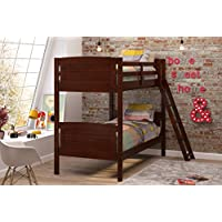 Woodcrest 8010 KD Scored Bunk Bed, Twin, Chocolate
