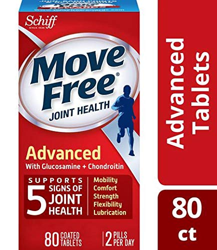 Glucosamine & Chondroitin Advanced Joint Health Supplement Tablets, Move Free (200 count in a bottle), Supports Mobility, Flexibility, Strength, Lubrication and ()