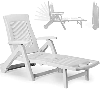 chaise longue pvc jardin