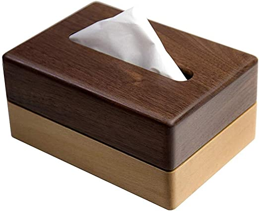 Caja de pañuelos Caja de pañuelos de madera Titulares Caja de ...