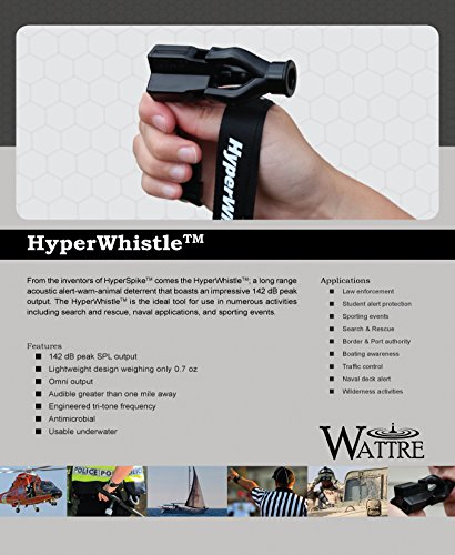 The Original HyperWhistle Worlds loudest whistle up to 142db Loud, Very long range, For Referee, Coaches, Instructors, Sports, Teachers, Life Guard, Protection, Self Defense, Survival, Emergency uses