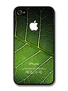 Natural Apple Logo Green Leaf iPhone 4 4s Case