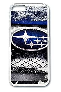 iPhone 6 Case - Protective Fitted Smooth Cover Case for iPhone 6 Subaru Car Logo 7 Clear Hard Back Bumper Cases for iPhone 6 4.7 Inches by runtopwell