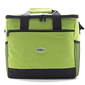 Gtowy Lunch Bag Box Tote Cooler Outdoor Large Capacity Warmer Picnic Insulated green