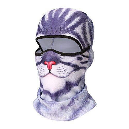 UHEREBUY Animal Cat/Dog Balaclava Face Mask Scarf/UV Protection Neck Gaiter/Cycling Helmet Liner Motorcycle Mask Halloween -