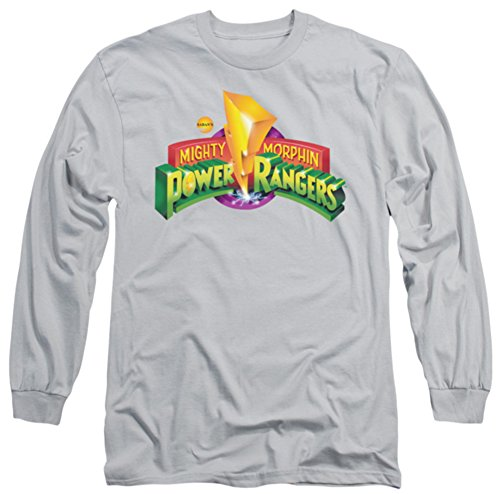 Long Sleeve: Power Rangers - MMPR Logo Longsleeve Shirt Size S (Mighty Morphin Power Rangers Logo)