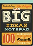 img - for The Big Ideas Notepad: 100 Brainstorming, Mind-Mapping & Awesome Idea-Generating Sheets book / textbook / text book