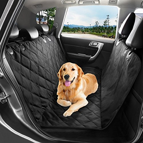 WINSEE Pet Seat Cover, Waterproof Dog Car Seat Covers Protector with Non Slip Silicone Backing for Cars Trucks and SUVs