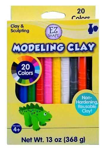 Ez Shape Modeling Clay Non Hardening Reusable Clay 20 Colors