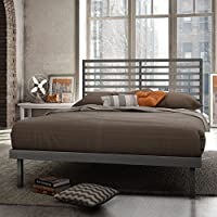 Theodore Platform Bed in Glossy Gray Finish (Queen)