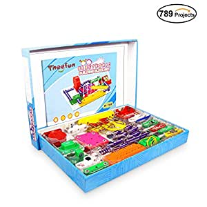 Theefun 789-Projects Smart Educational Electronics Discovery Kit, Great Diy Building Blocks Electric Circuits for Children