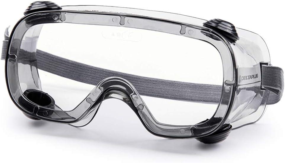Gafas de Seguridad, Lentes Transparentes, Gafas de protección contra el Viento y Salpicaduras Completamente Selladas, adecuadas para la producción química, de Laboratorio, hospitalaria e Industrial