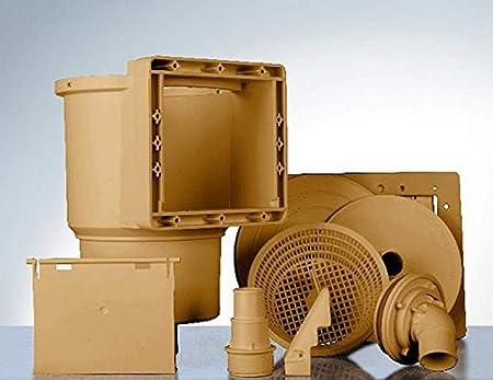 Gre AR100W - Skimmer para Piscina Estándar + Válvula de Impulsión, Color Marrón