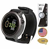 AMBA GolfBuddy WTX Golf GPS/Rangefinder Smart Watch (40k+ Preloaded Worldwide Courses) Bundle with 1 Sleeve (3 Balls) Taylormade TP5X and Magnetic Hat Clip Ball Marker (USA Flag)