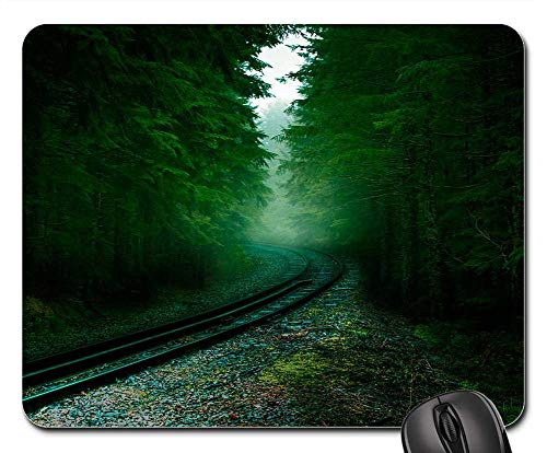 Mouse Pad - Forest Railway Sleepers Tree Pine Rails Trees