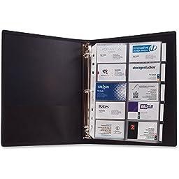 Anglers 3-Ring Business Card Binder - 1000 Capacity - 11\