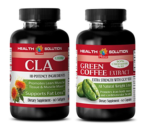 Fat loss capsules - CLA - GREEN COFFEE EXTRACT - COMBO - green coffee weight loss pills - (2 Bottles COMBO)