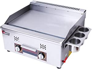 ALUA- Table Top Grill - Portable Gas Griddle - Propane Fueled - for Outdoor Cooking While Camping, Tailgating Or Picnicking